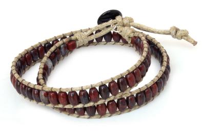 Leather Beaded Jasper Bracelet