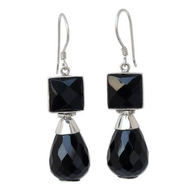 Agate dangle earrings
