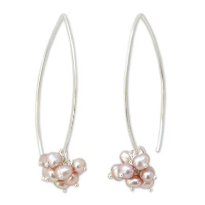 Hand Made Pearl Dangle Earrings
