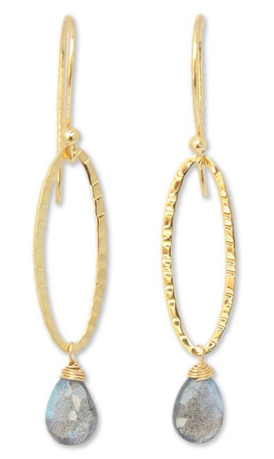 Gold Vermeil Labradorite Earrings