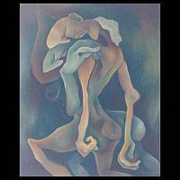 'The Lover' - Original Cubist Painting