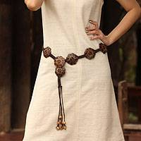 Coconut shell belt,