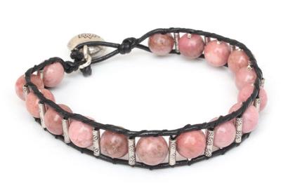 Rhodonite Beaded Bracelet