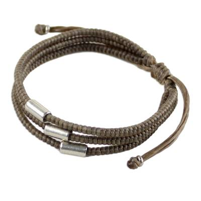 Thai Fine Silver Braided Bracelet