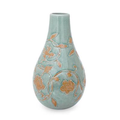 Thai Celadon Ceramic Vase