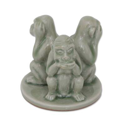 Artisan Crafted Ceramic Monkey Sculpture