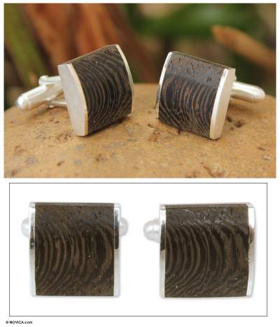 Sterling silver cufflinks, Majestic Nature