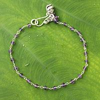 Amethyst floral bracelet,