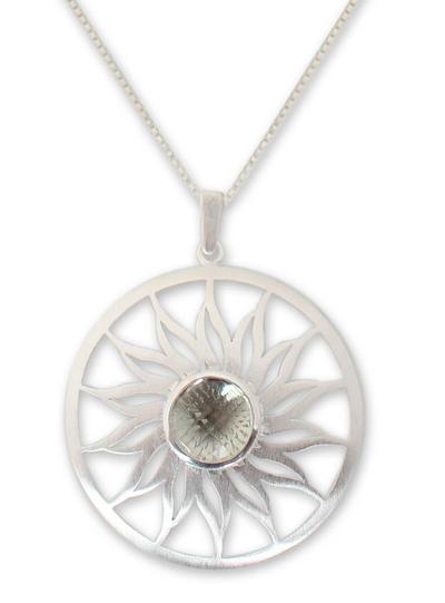 Prasiolite pendant necklace