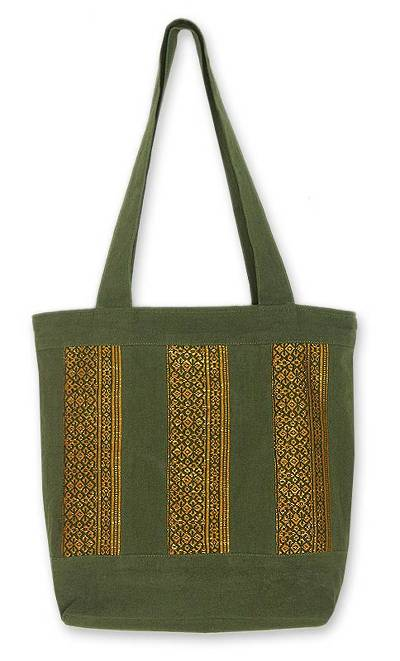 Fair Trade Embroidered Cotton Tote Bag