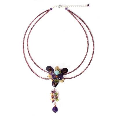 Beaded Amethyst Necklace