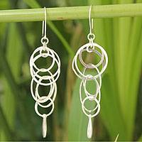 Sterling silver dangle earrings, 'Magic' - Sterling Silver Dangle Earrings
