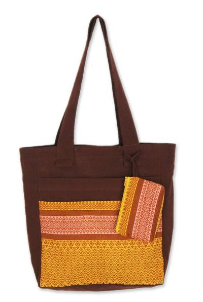 Cotton Tote Bag with Coin Purse