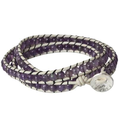 Amethyst Wrap Bracelet from Thailand