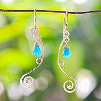 Gold vermeil chandelier earrings- 'Jungle' (Thailand)