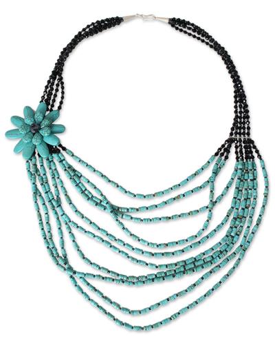 Thai Beaded Flower Necklace