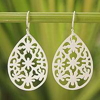 Sterling silver dangle earrings, 'Starlight Tear' - Thai Sterling Silver Dangle Earrings