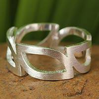 Sterling silver band ring, 'Minimalist'