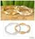Gold vermeil silver stacking rings, 'Soul Mates' (pair) - Artisan Crafted Sterling Silver and Vermeil Band Ring (Pair) thumbail