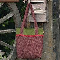 Cotton tote bag, 'Cinnammon Versatility' - Cotton tote bag