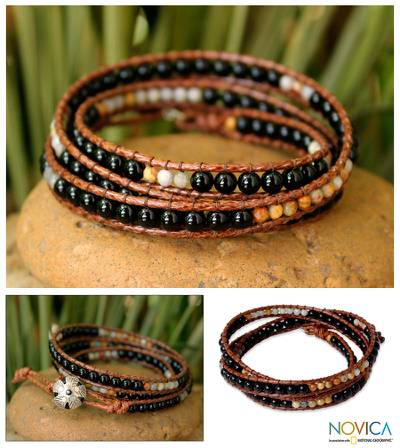 Onyx wrap bracelet, Eclipse Shadows