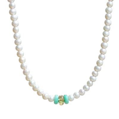 Pearl and Amazonite Necklace