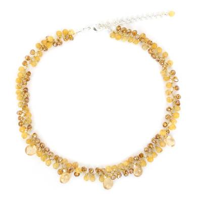 Beaded Citrine Necklace from Thailand