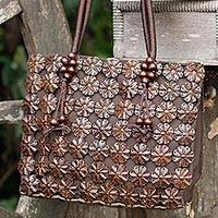 Coconut shell Tote handbag,