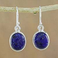 Lapis lazuli dangle earrings, 'Majestic Blue'