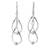 Sterling silver dangle earrings, 'Fabulous' - Hand Made Modern Sterling Silver Dangle Earrings (image 2a) thumbail