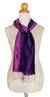 Silk scarf, 'Violet Duality' - Handmade Purple Silk Scarf from Thailand (image 2b) thumbail