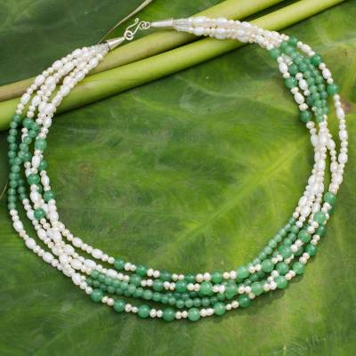 Cultured pearl strand necklace, 'Chiang Mai Melody' - Cultured pearl strand necklace