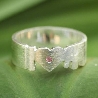 Tourmaline band ring