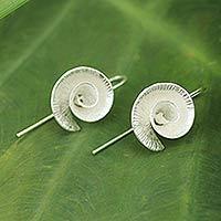 Sterling silver drop earrings, 'Be Spectacular' - Modern Sterling Silver Drop Earrings