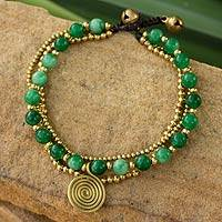 Aventurine beaded wristband,