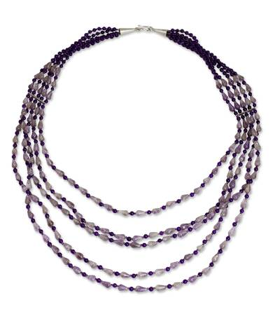 Amethyst strand necklace