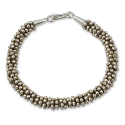 Hill Tribe Fine Silver Beaded Bracelet