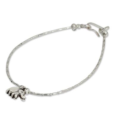 Fair Trade Fine Silver Charm Bracelet