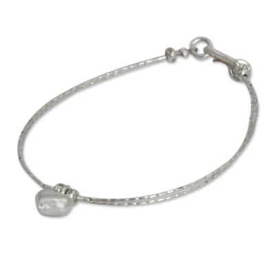 Thai Heart Shaped Fine Silver Charm Bracelet