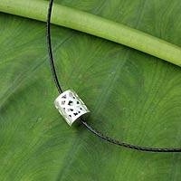 Men's sterling silver necklace, 'Forest Shadow' - Modern Men's Necklace with Sterling Silver