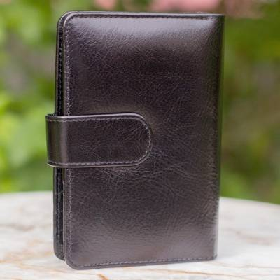 Leather wallet and phone holder