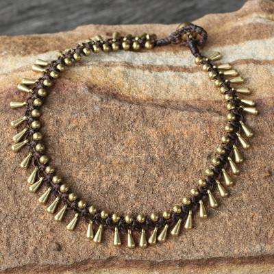 Brass beaded anklet, Sweet Charm