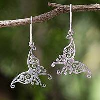 Sterling silver dangle earrings, Thai Chrysalis
