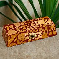 Wood jewelry box, 'Thai Serenade' - Wood jewelry box