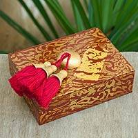 Wood jewelry box, 'Imperial Mae Ping' - Wood jewelry box