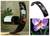 Lacquered wood wine bottle holder, 'Vanda Orchid' - Handpainted Purple Orchid Wine Bottle Holder thumbail