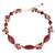 Cultured pearl and garnet choker, 'Red Lily Garland' - Artisan Crafted Pearl and Garnet Choker Necklace (image 2a) thumbail