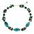 Cultured pearl choker, 'Green Lily Garland' - Artisan Crafted Pearl and Garnet Choker Necklace (image 2a) thumbail