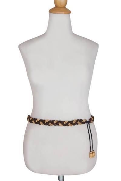 Coconut shell belt