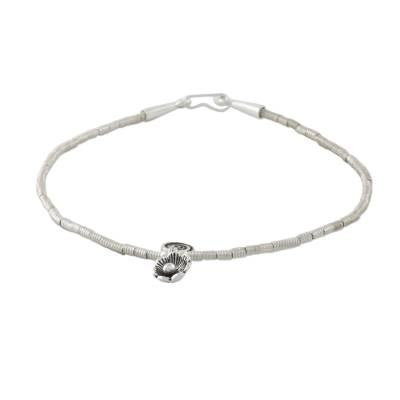 Beaded Silver 950 Thai Hill Tribe Anklet